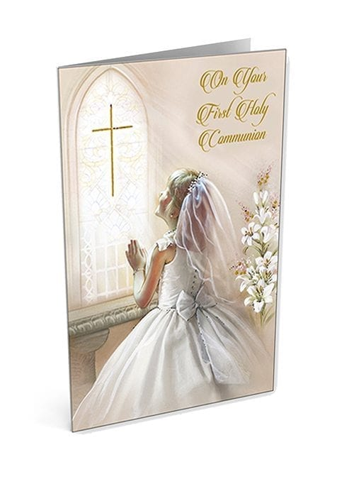 First Holy Communion card for a girl