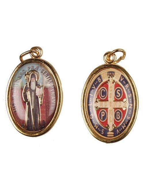 Saint Benedict Enamel Medal