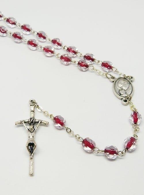 Pope john paul rosary red