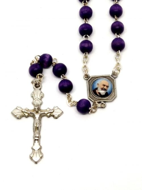 Padre Pio Rosary Rose Scented