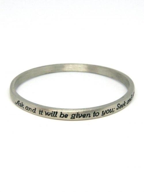 scripture bracelet matthew 7