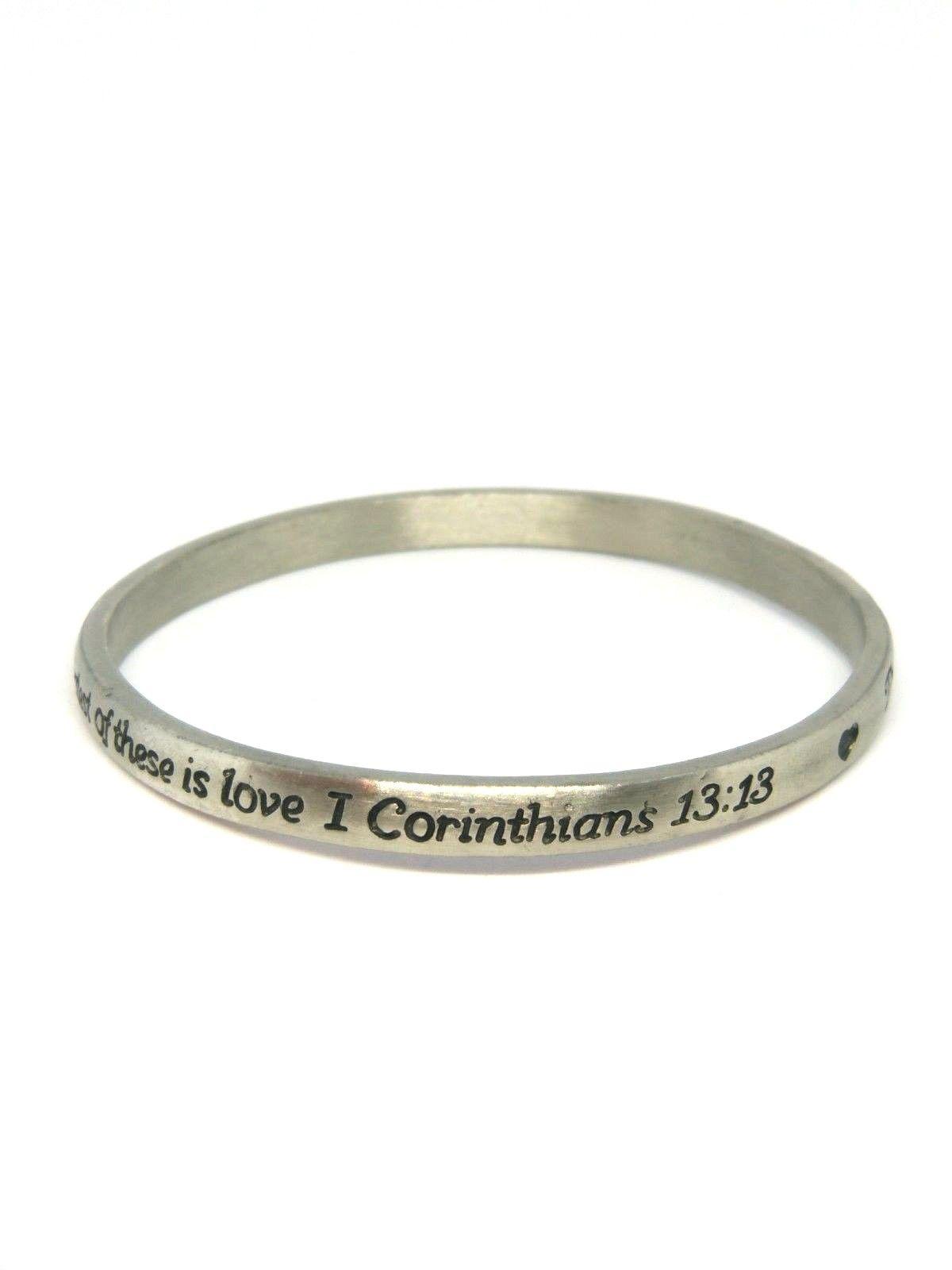 scripture bracelet corinthians 13 13 piety stall