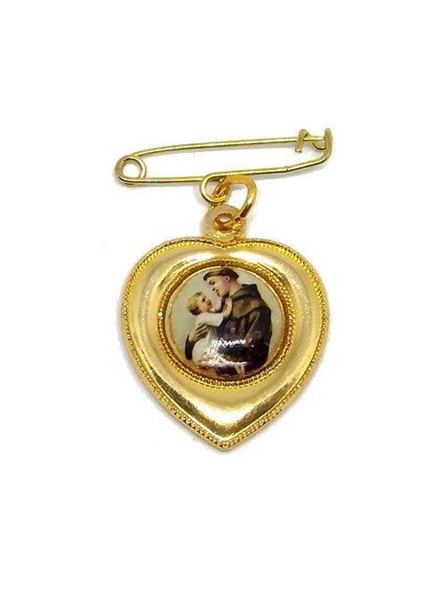 St anthony heart medal with relic piety stall st anthonyst anthony heart medal with relic aloadofball Choice Image