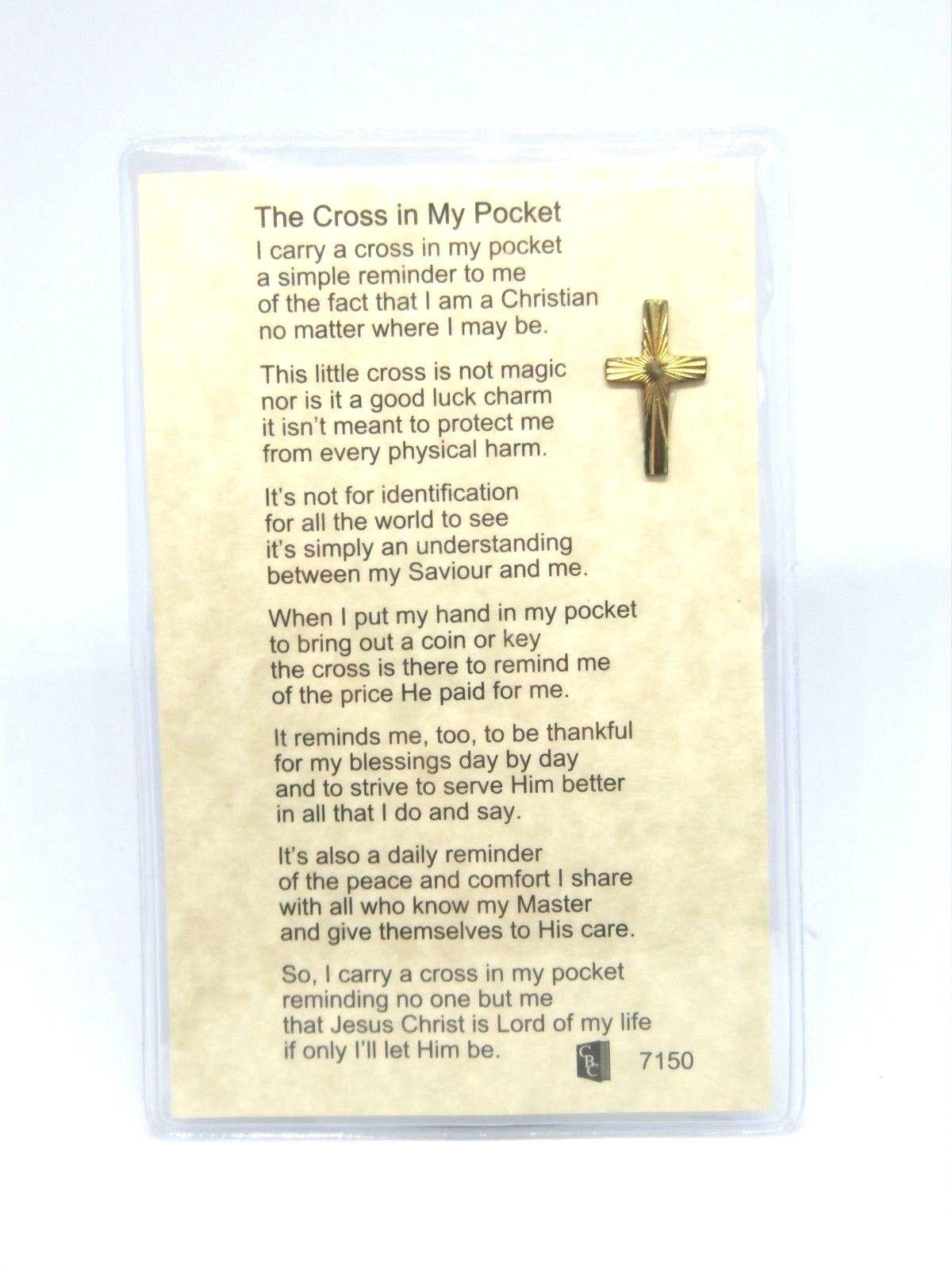 cross in my pocket
