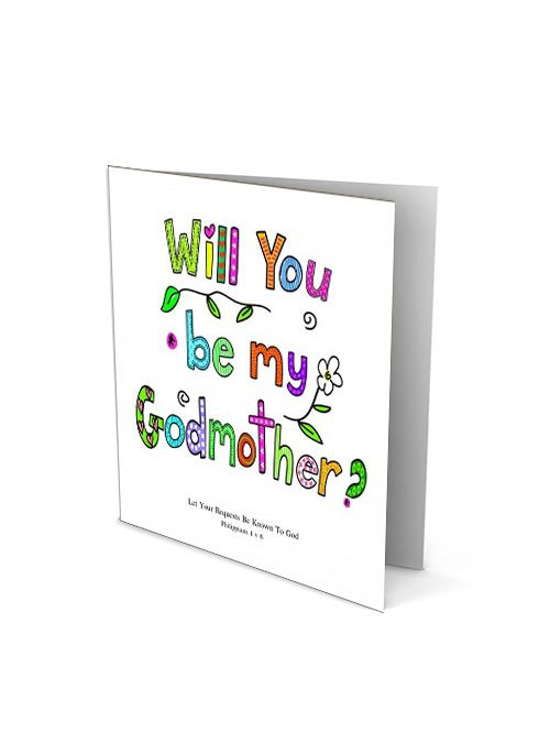 Will you be my godmother baptism card for godmother will you be my godmother card m4hsunfo