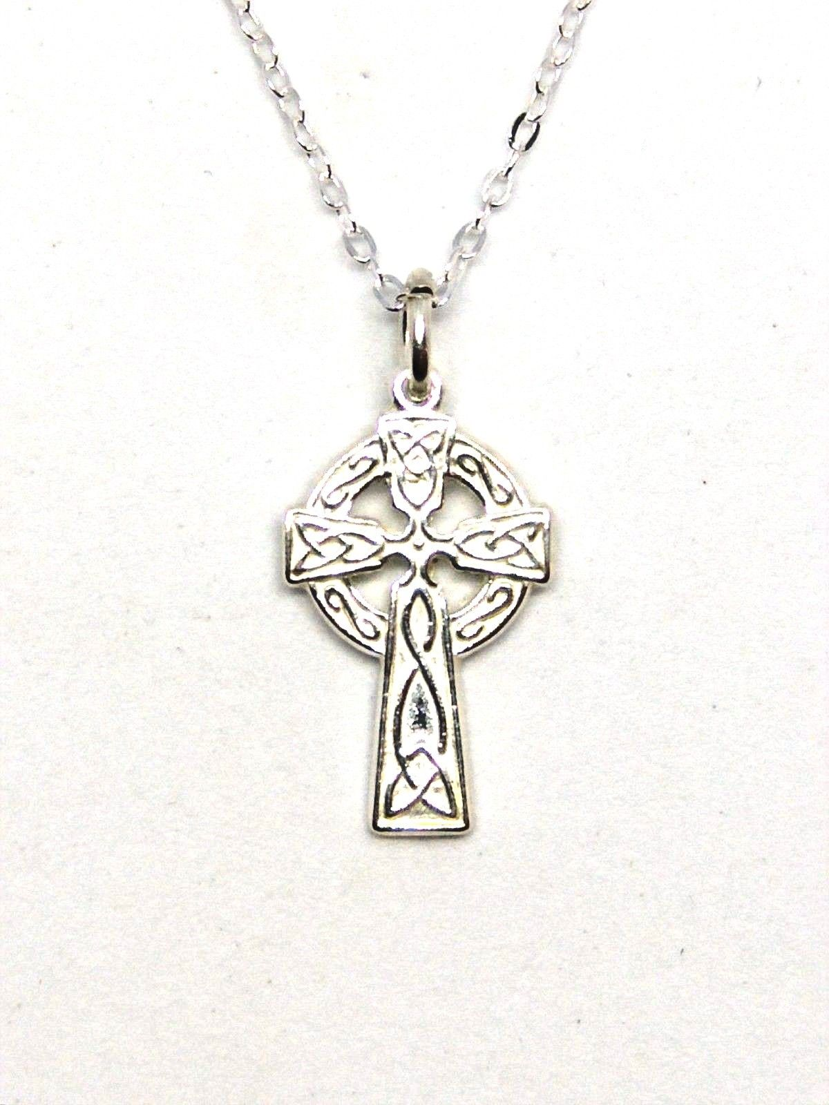swarovski celtic product cross sterling white necklace silver ss crystals crystal sw with