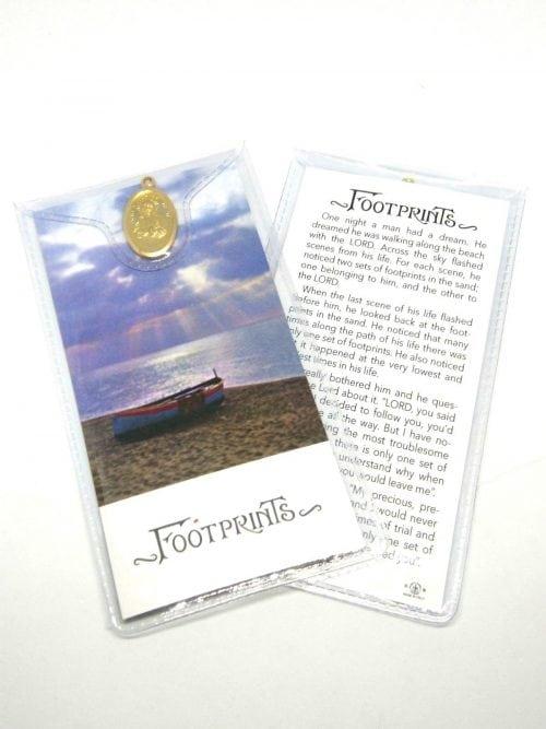 Footprints Prayer Card