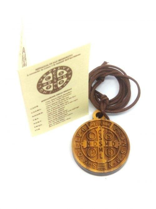 St Benedict Medal Olive Wood