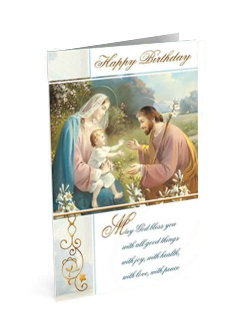 Holy Family Birthday Card
