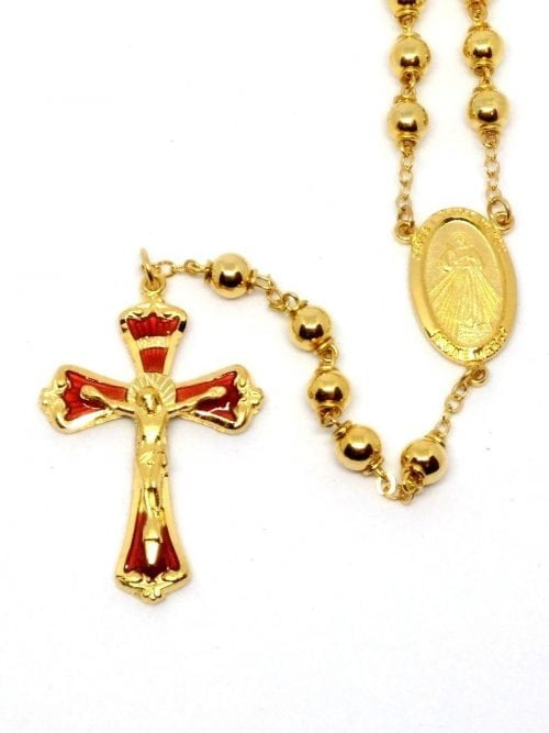 Divine Mercy Rosary with Gold plating