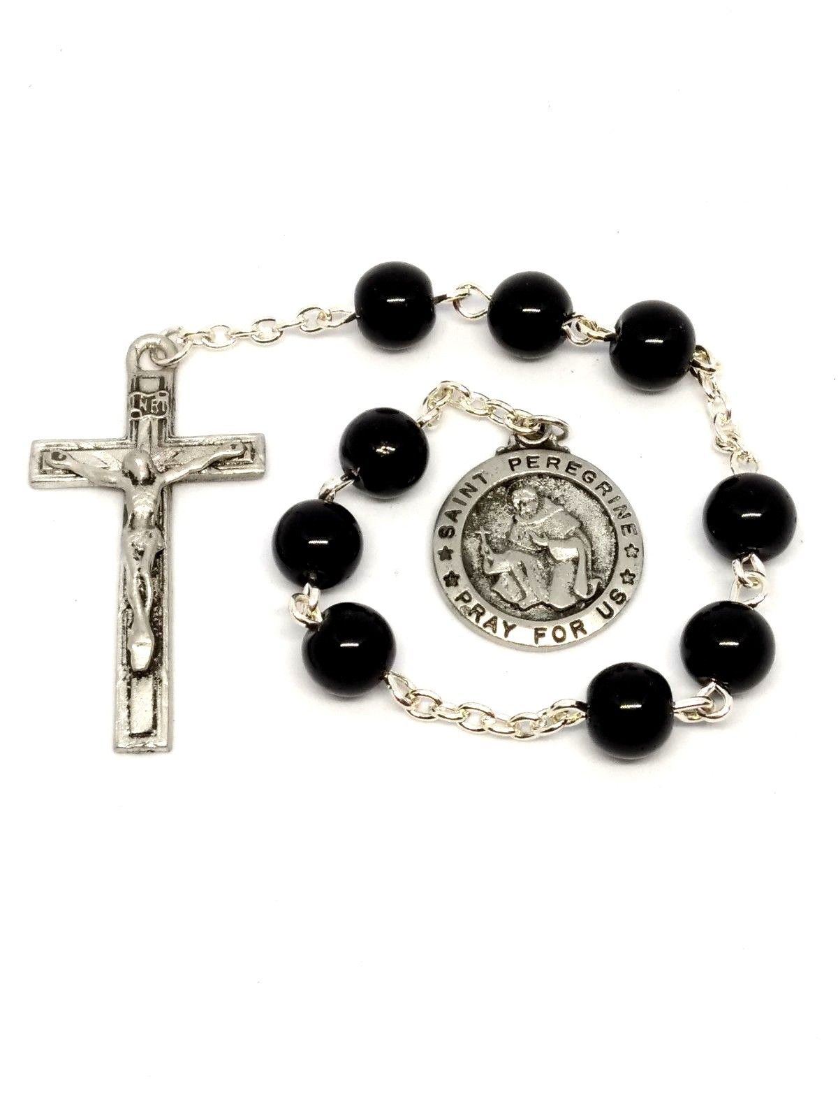 2c569ef22bc St Peregrine Chaplet | Hematite Rosary | Catholic Devotions and Gifts