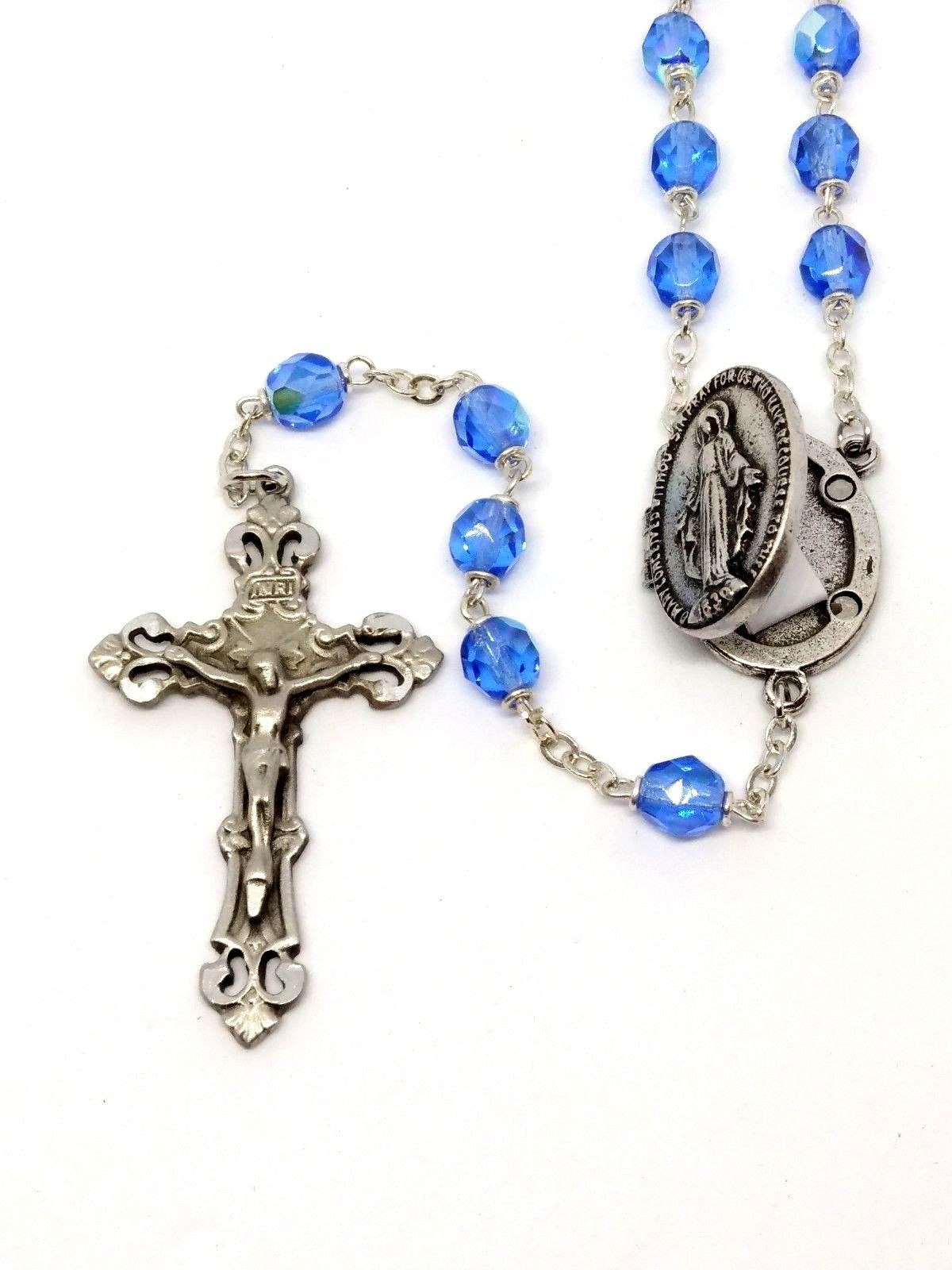 Petition Rosary Blue Glass