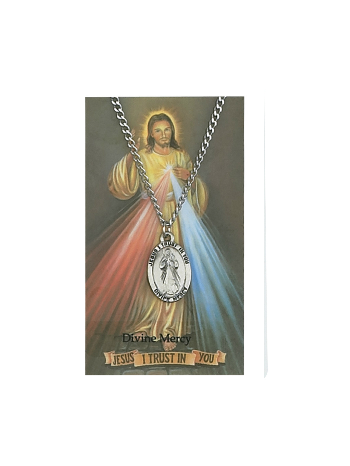 Divine Mercy Medal and Chain