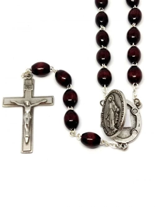 Prayer petition locket rosary
