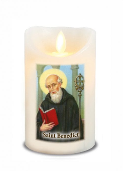 St Benedict LED Candle