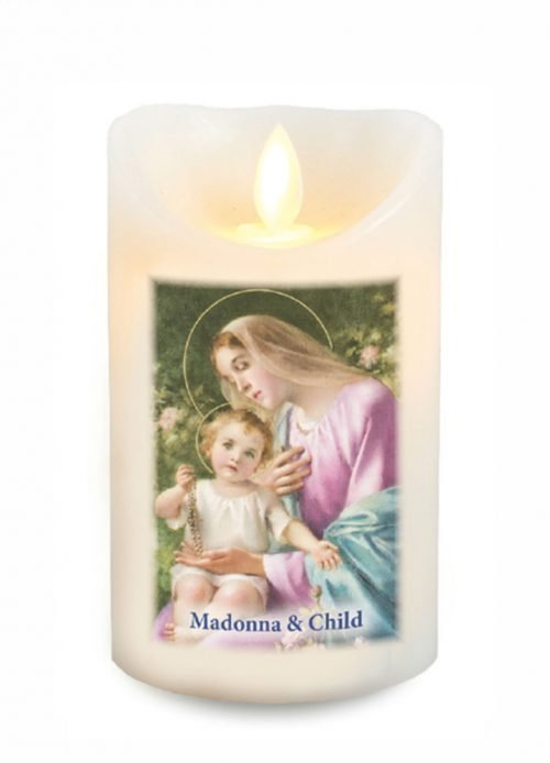 Our Lady and Child LED Candle