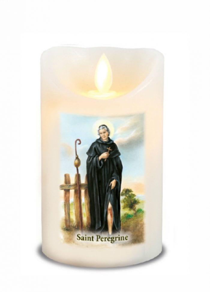St Peregrine LED Candle