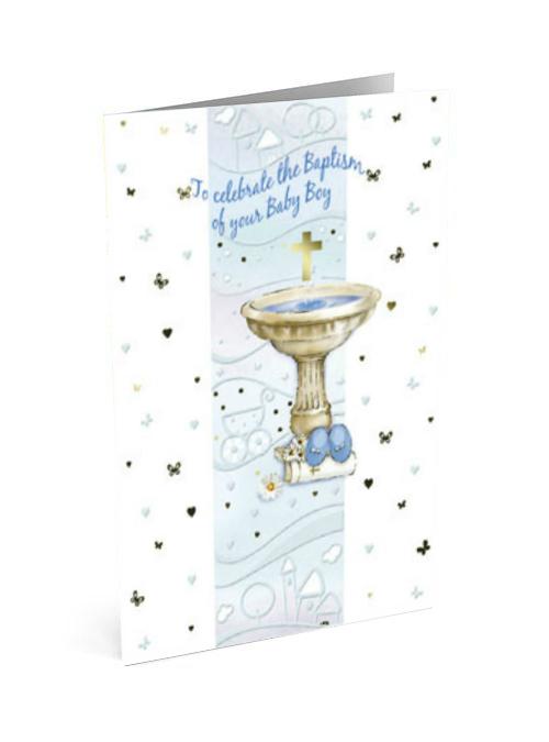 Baptism Card for a boy