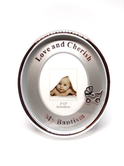 Baptism Silver Frame
