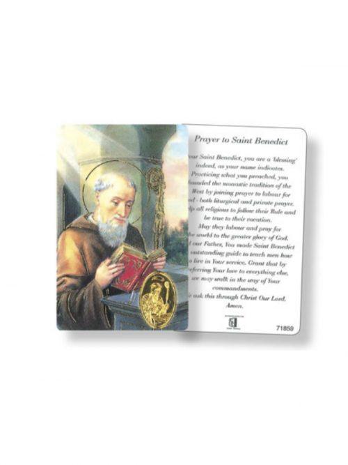 St Benedict Prayer Card
