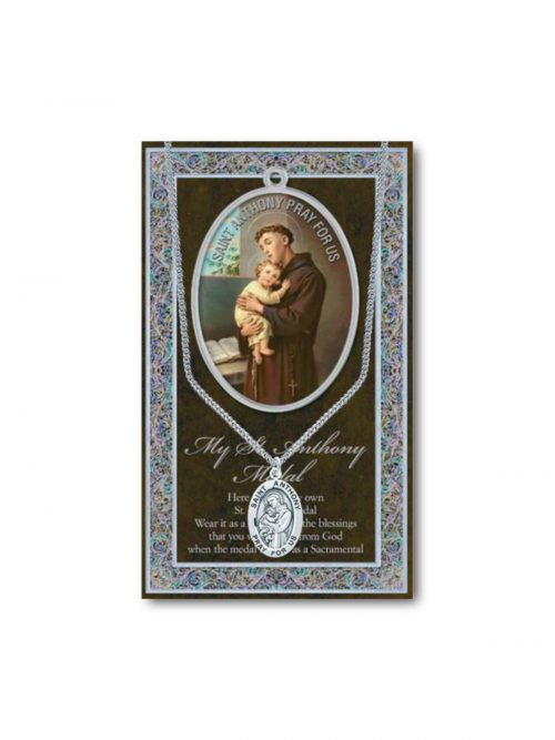 St Anthony medal and chain