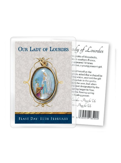 Our Lady of Lourdes Enamel Medal