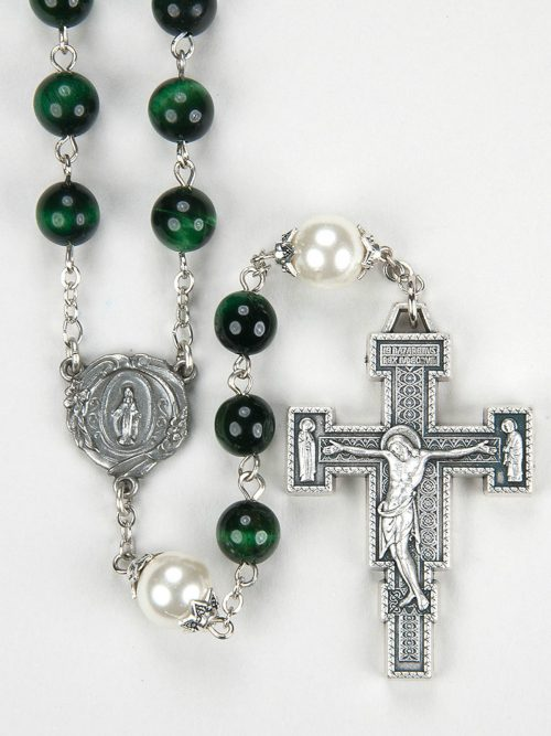 Green Tiger Eye Rosary