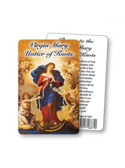 Our Lady Untier of Knots Prayer Card