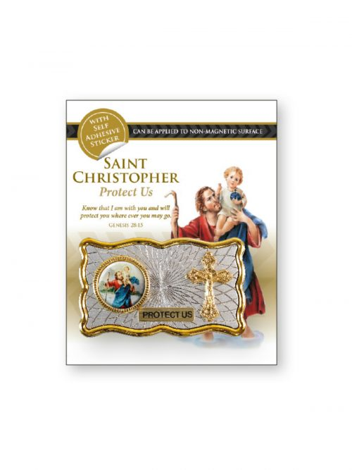 St Christopher Car Plaque