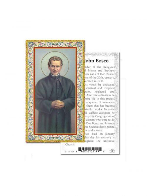 St John Bosco Prayer Card
