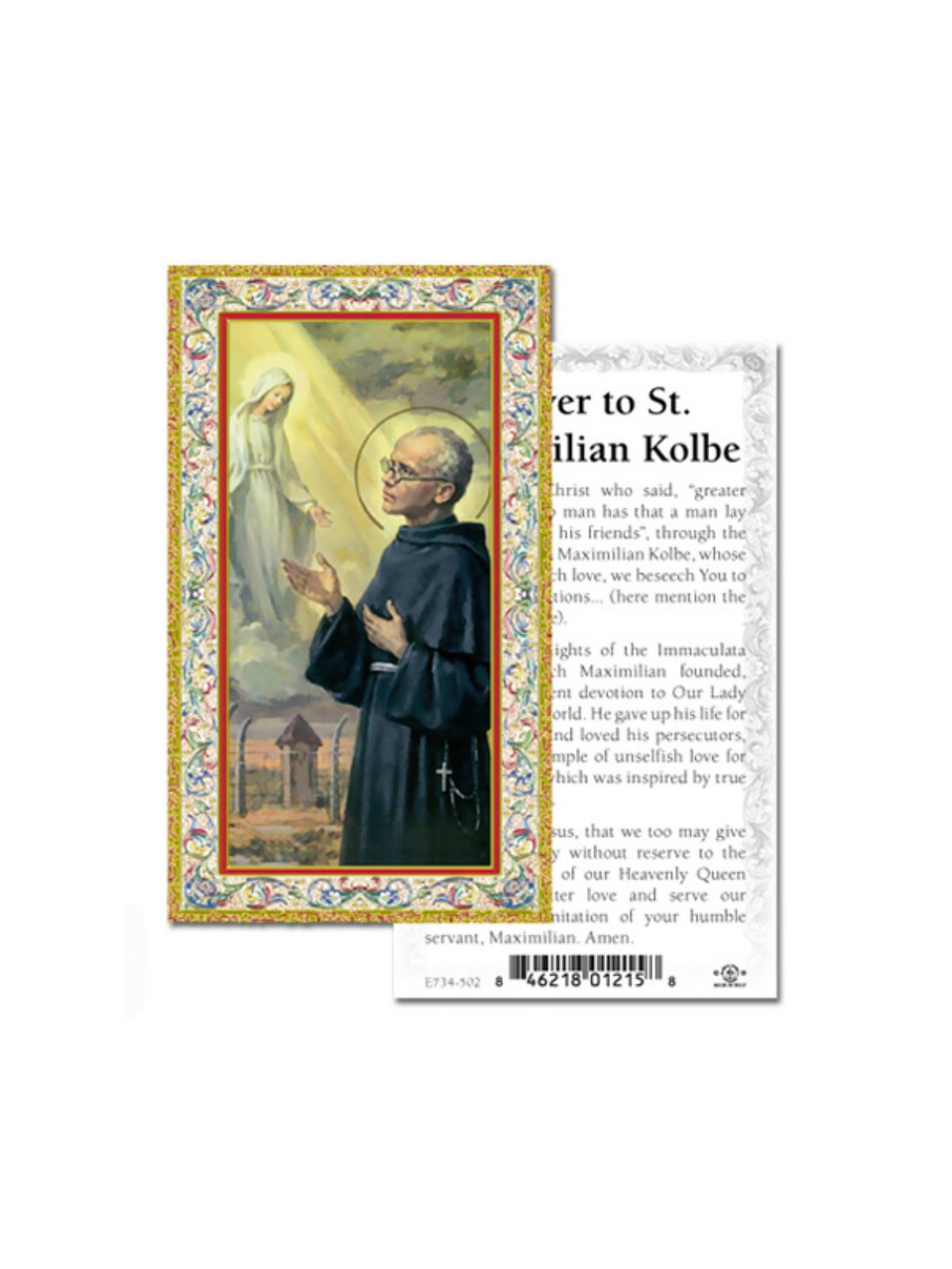 Saint Maximilian Kolbe Prayer Card