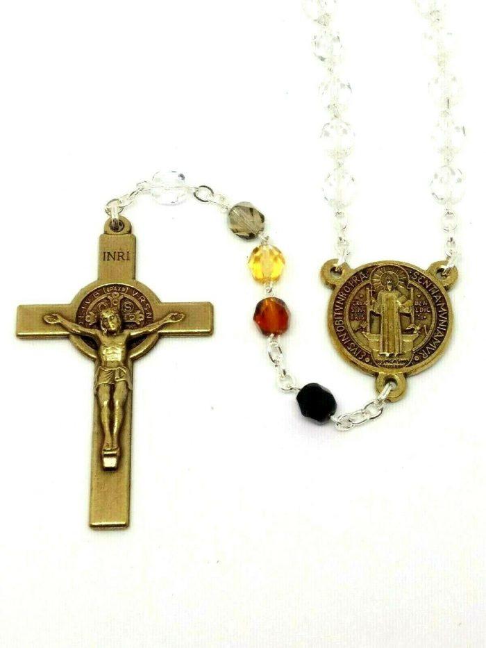 St Benedict Glass Rosary