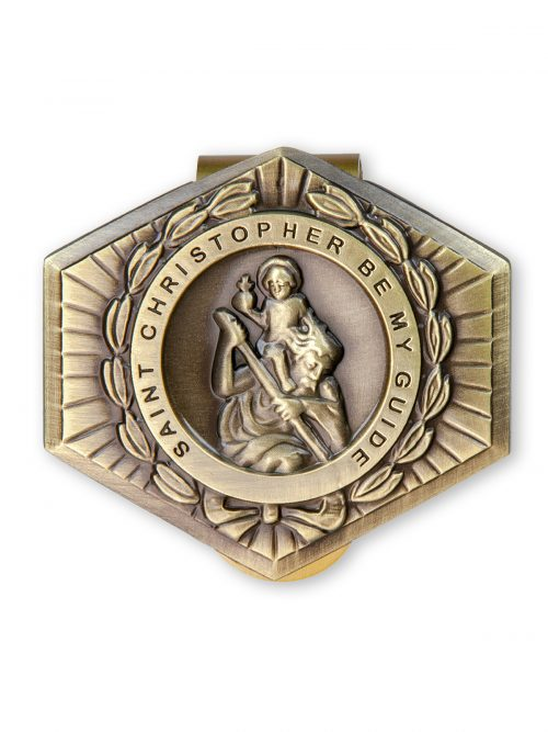 St Christopher Car Visor Clip