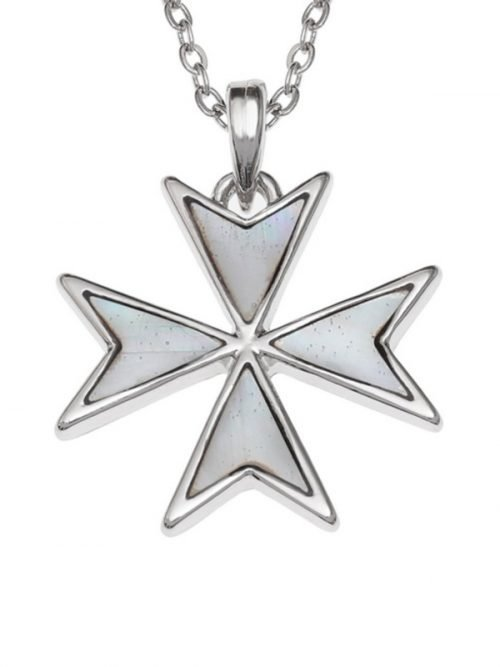 Mother of Pearl Maltese Cross