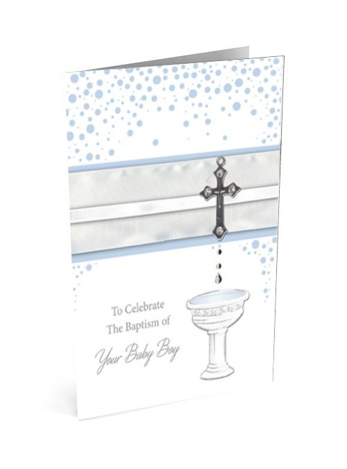 Baptism card for a boy