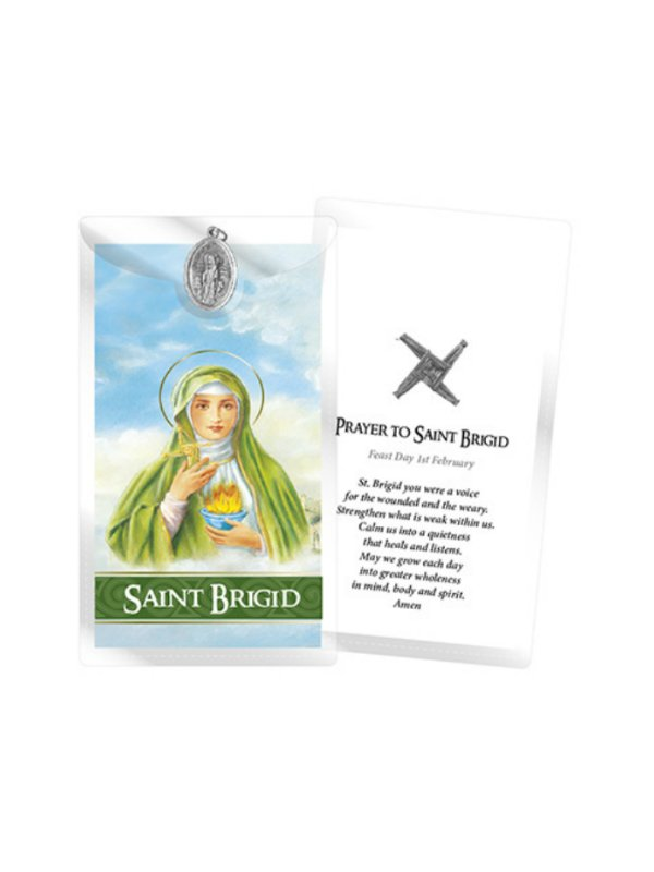 St Brigid Prayer Card and Medal
