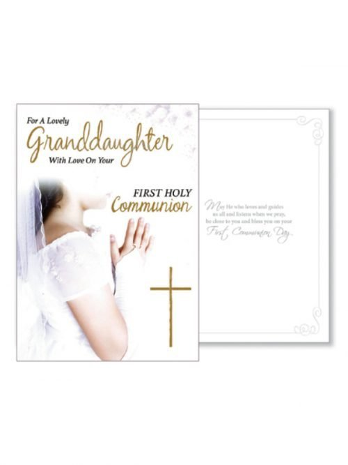Grand Daughter Frist Holy Communion Card