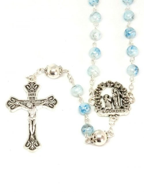 Lourdes Glass Rosary Beads