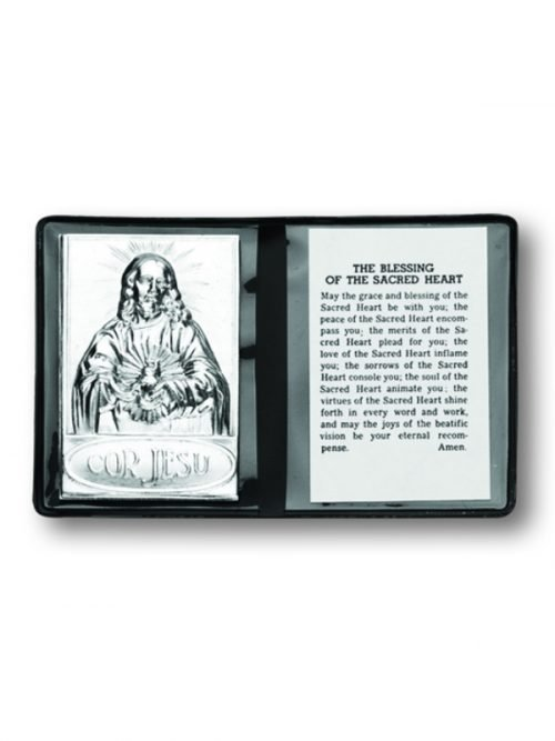 Sacred Heart Pocket Plaque