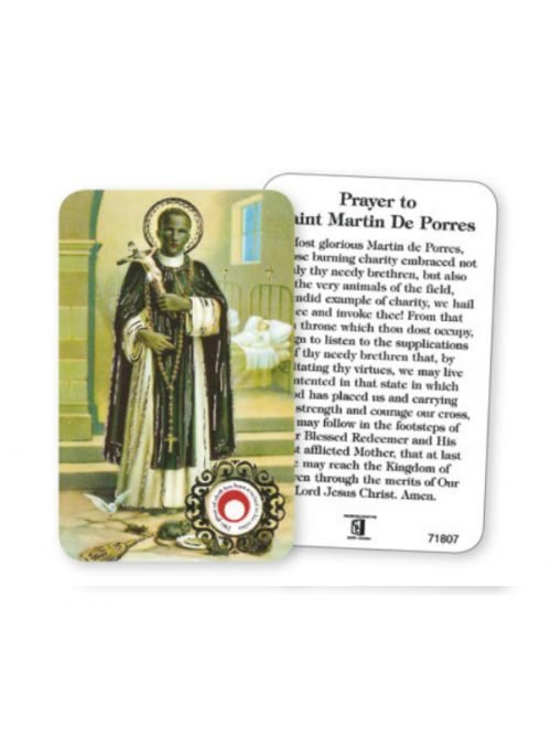 St Martin Prayer Card with Relic