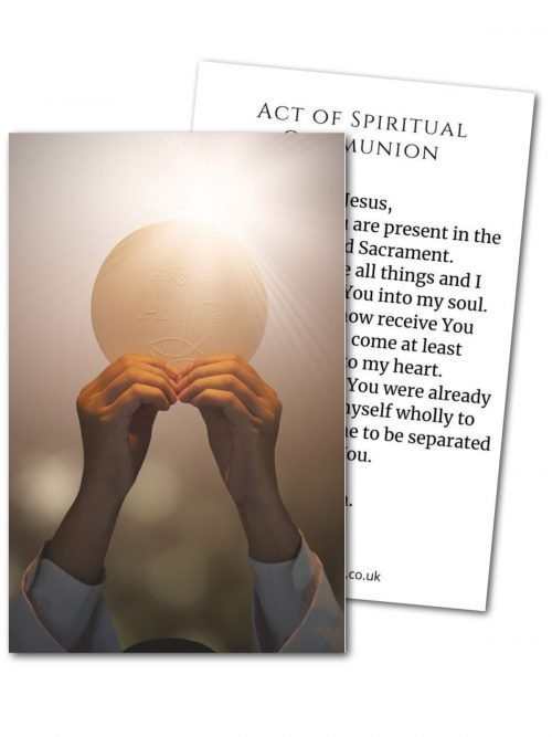 Act of Spiritual Communion Host Prayer Card