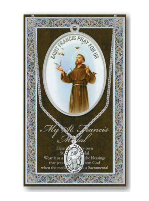 St Francis of Assisi Medal and Chain