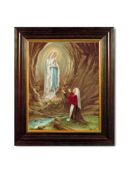 Our Lady of Lourdes Framed Picture