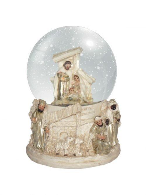 Nativity and Kings Snow Globe
